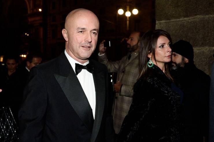 Gianluigi Nuzzi in compagnia della moglie