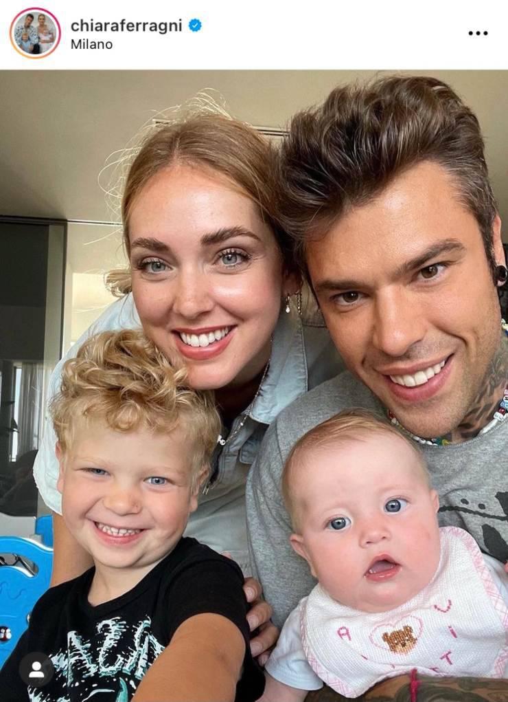 La famiglia Ferragnez