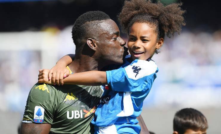 Mario Balotelli con sua figlia Pia (Getty, Francesco Pecoraro)