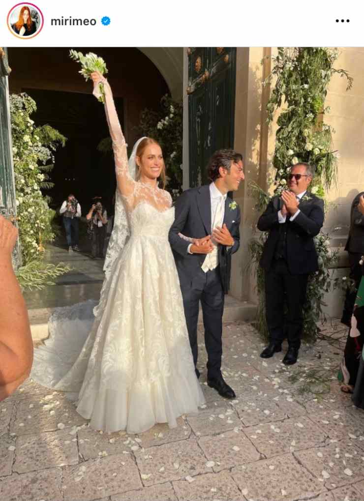 Miriam Leone velicemente sposata con Paolo Carullo