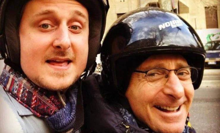 Paolo Bonolis con suo figlio Stefano (fanpage)