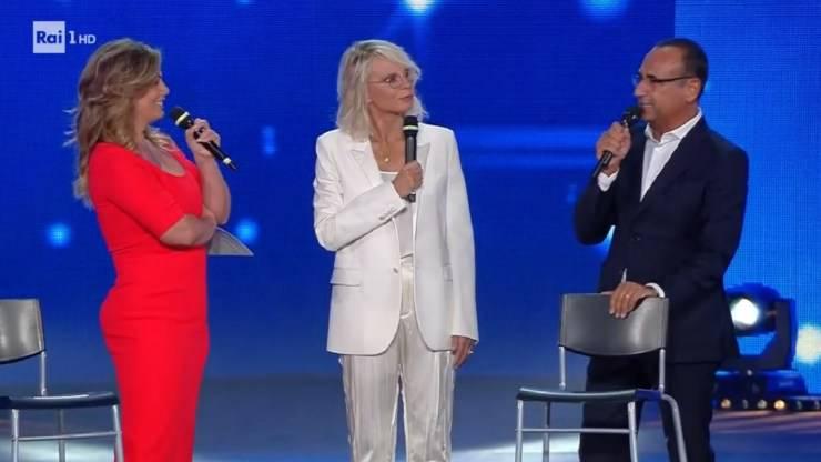 Vanessa Incontrada, Maria De Filippi e Carlo Conti al Seat Music Awards