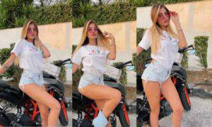 Chiara Nasti foto sexy moto