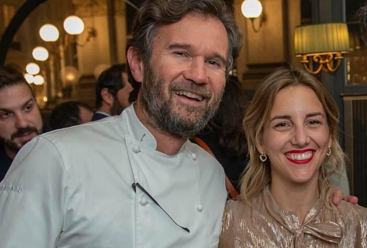 Carlo Cracco con sua moglie Rosa Fanti (MeteoWeek)