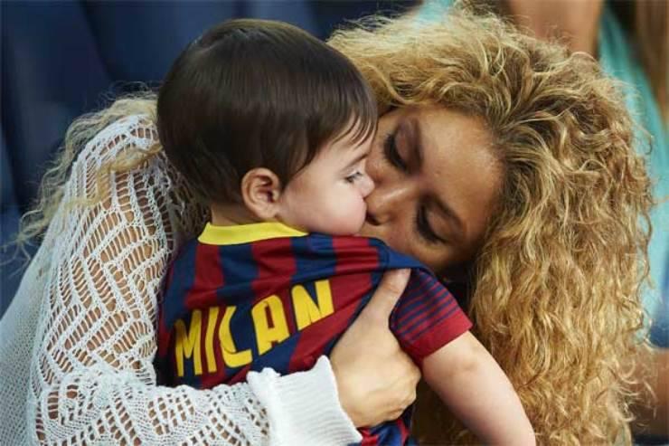 Shakira con suo figlio